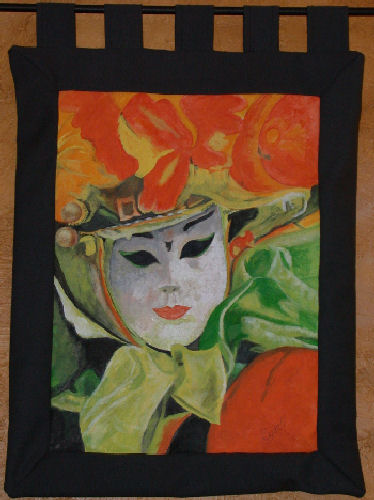 Masked Lady Tapestry